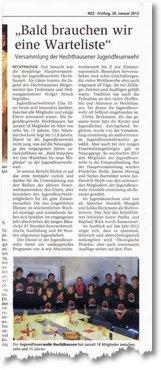 Zeitungsbericht JHV k